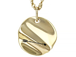 """18K Yellow Gold Over Sterling Silver """"Warrior"""" Pendant With Chain"""