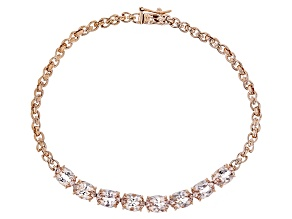Pink Morganite 10k Rose Gold Bracelet 5.04ctw