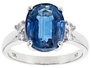 Blue Kyanite 10k White Gold Ring 3.50ctw