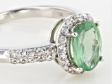 Green Kyanite 10k White Gold Ring 1.47ctw