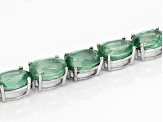 Green Mint Kyanite 10k White Gold Bracelet 12.04ctw