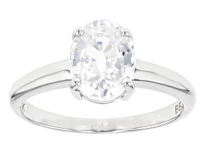 White Zircon 10k White Gold Ring 2.28ct