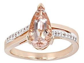 Pink Morganite 10k Rose Gold Ring 1.67ctw