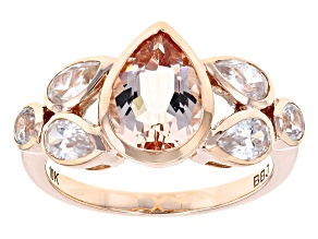 Pink Morganite Rose Gold Ring 2.24ctw