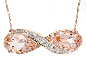 Pink Morganite 10k Rose Gold Necklace 2.40ctw