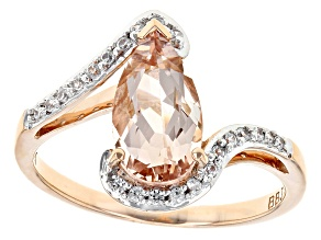 Pink Morganite 10k Rose Gold Ring 1.32ctw