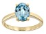 Blue Zircon 10k Yellow Gold Ring 2.05ct