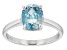 Blue Zircon 10k White Gold Ring 2.05ct