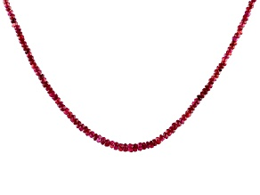Mahaleo Ruby Bead 14k Yellow Gold Necklace Approximately 50.00ctw