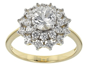 White Zircon 10k Yellow Gold Ring 2.37ctw