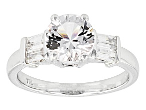 White Danburite 10k White Gold Ring 1.90ctw