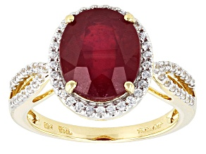 Mahaleo Ruby 10k Yellow Gold Ring 4.57ctw