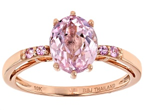 Pink Kunzite 10k Rose Gold Ring 1.96ctw