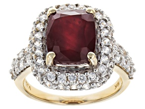 Mahaleo Ruby 10k Yellow Gold Ring 5.75ctw