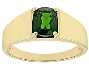 Green Chrome Diopside 10k Yellow Gold Ring 1.10ct