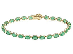 Green Emerald 14k Yellow Gold Bracelet 8.66ctw