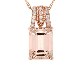 Pink Morganite 14k Rose Gold Pendant With Chain 1.68ctw