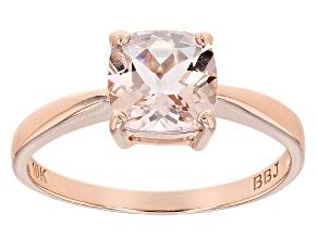 Pink Morganite 10k Rose Gold Ring 1.13ct