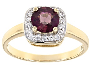 Purple Spinel 10k Yellow Gold Ring 1.08ctw