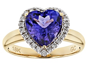 Blue Tanzanite 18k Yellow Gold Ring 2.72ctw