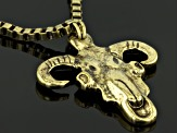 Gold Tone Ram Necklace