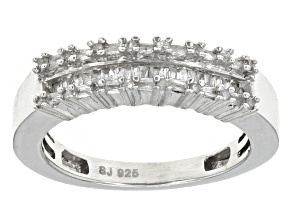 Diamond Rhodium Over Sterling Silver Ring .25ctw