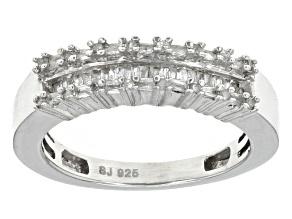 Diamond Rhodium Over Sterling Silver Ring .25ctw