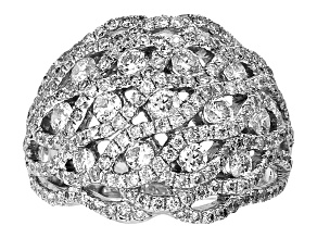 Diamond 1.95ctw Round 14k White Gold Ring