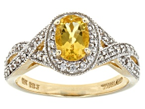 Yellow Beryl 10k Yellow Gold Ring .95ctw