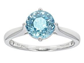 Blue Zircon 10k White Gold Ring 2.49ct