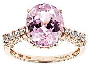 Pink Kunzite 10k Rose Gold Ring 5.19ctw