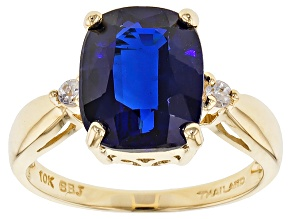 Blue Kyanite 10k Yellow Gold Ring 4.74ctw