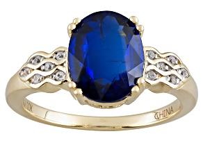 Blue Kyanite 10k Yellow Gold Ring 2.83ctw