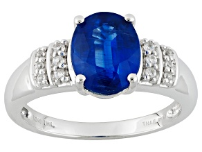 Blue Kyanite 10k White Gold Ring 2.20ctw