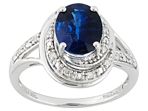 Blue Kyanite 10k White Gold Ring 2.16ctw