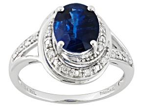Blue Kyanite 10k White Gold Ring 2.16ctw