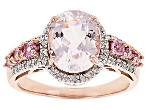 Pink Morganite 10k Rose Gold Ring 2.71ctw
