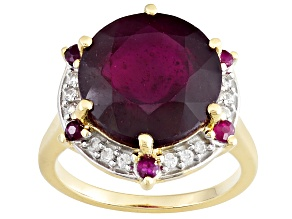 Mahaleo Ruby 10k Yellow Gold Ring 7.40ctw