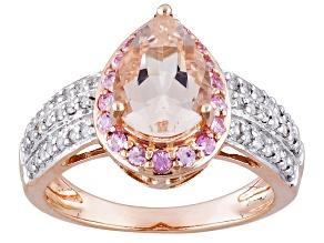 Pink Morganite 10k Rose Gold Ring 1.99ctw