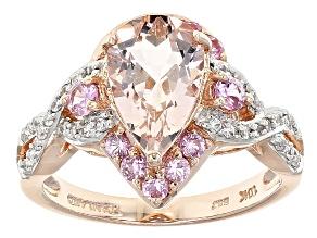 Pink Morganite 10k Rose Gold Ring 2.36ctw