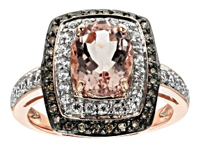 Pink Cor De Rosa™ Morganite 10k Rose Gold Ring 1.82ctw