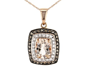 Pink Morganite 10k Rose Gold Pendant With Chain 1.65ctw