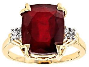 Mahaleo Ruby 10k Yellow Gold Ring 7.08ctw