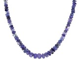 Blue Tanzanite Bead 14k Gold Necklace approximately 100.00ctw
