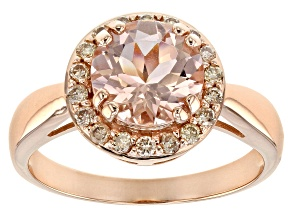 Pink Morganite 10K Rose Gold Ring 1.73ctw
