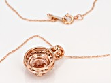Pink Morganite 10k Rose Gold Pendant with Chain 1.73ctw