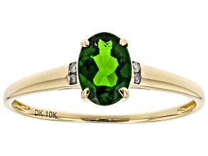 Green Chrome Diopside 10k Yellow Gold Ring .70ctw
