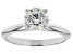 White Lab-Grown Diamond 14k White Gold Ring 1.00ctw