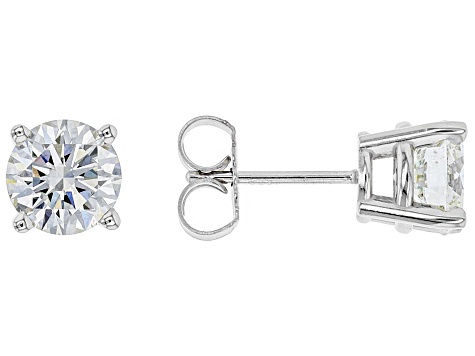 White Lab Grown Diamond 14k Gold Earrings 2 00ctw