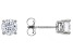 White Lab-Grown Diamond 14K White Gold Stud Earrings 1.00ctw